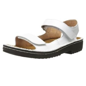 Naot Karenna White Leather Strappy Sandals
